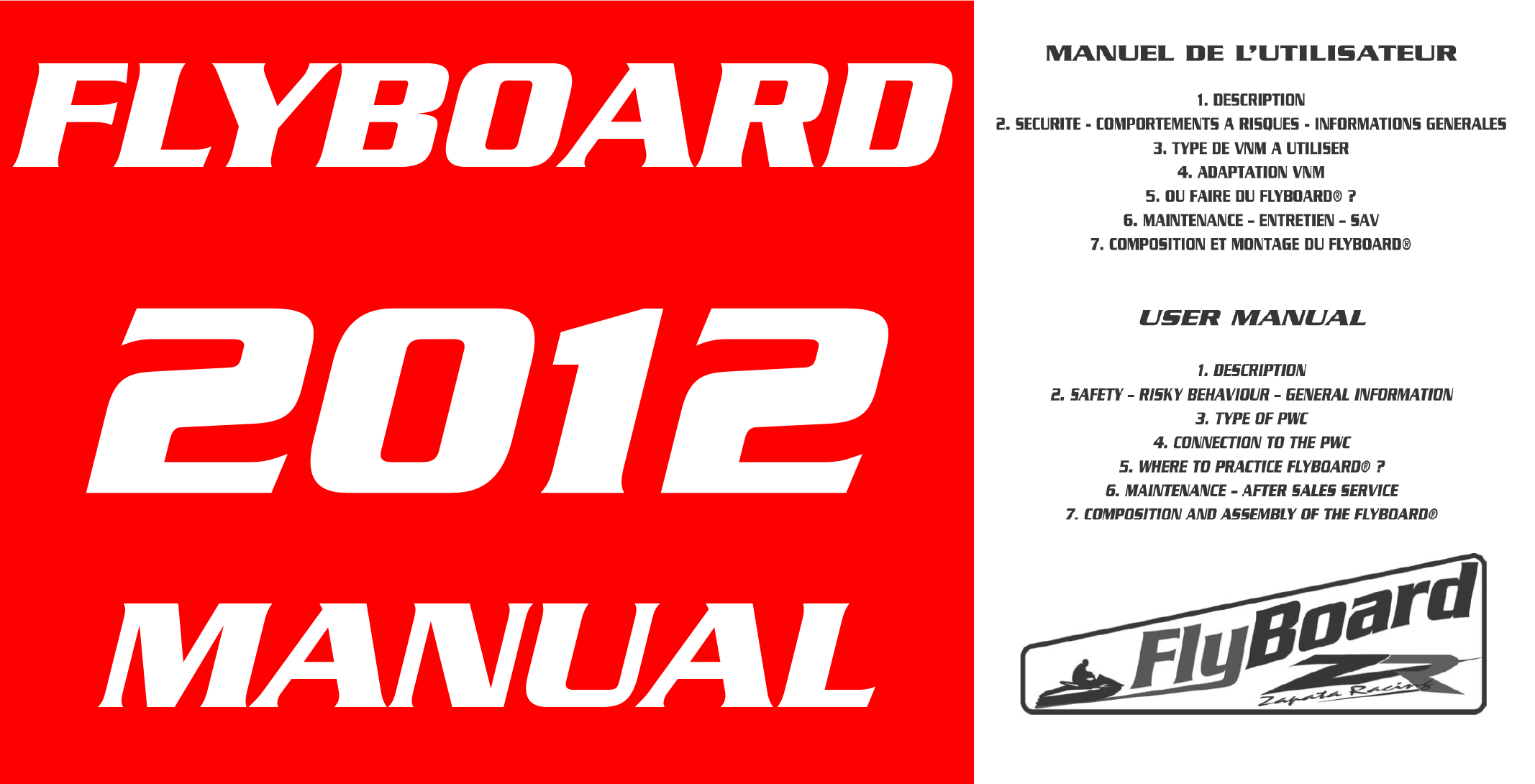 Flyboard V1 2012 Manual Download