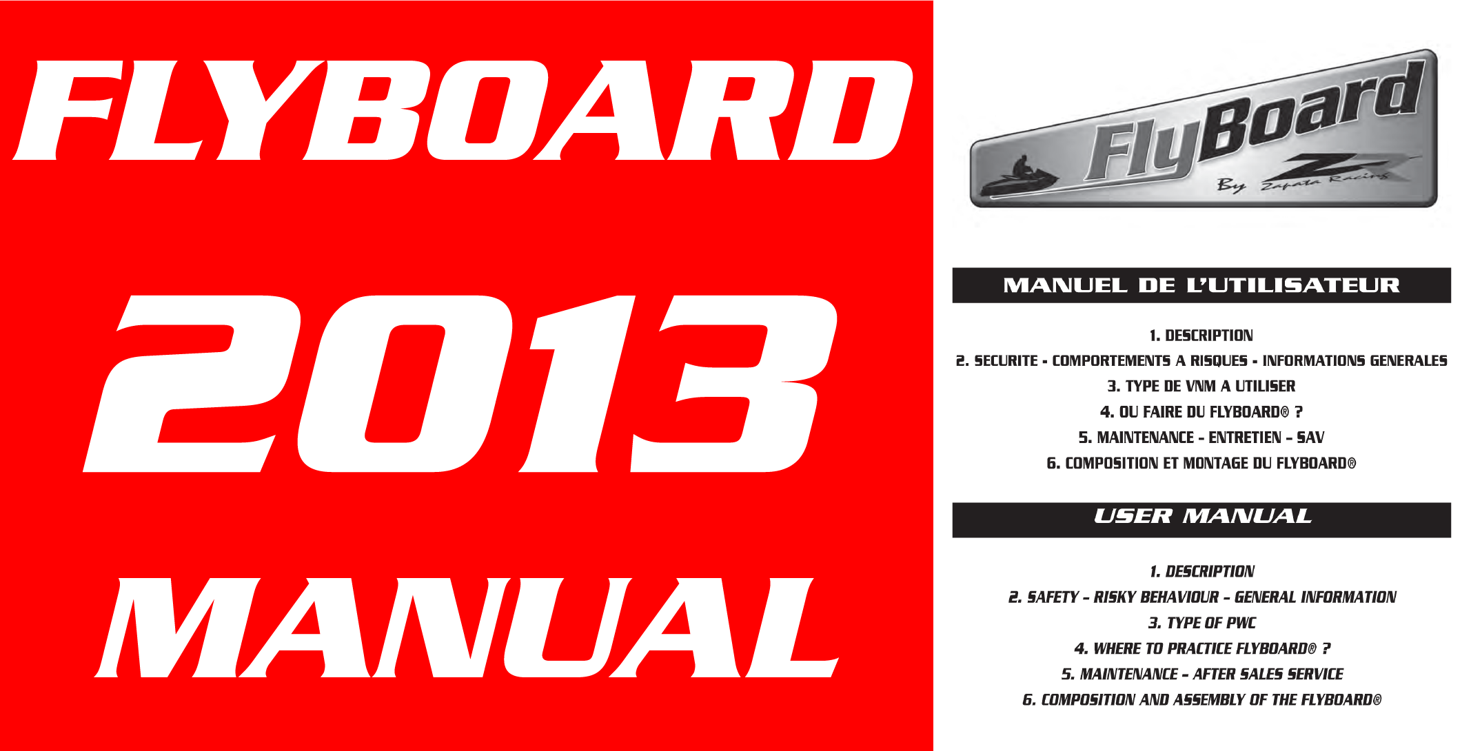Flyboard V2 2013 Manual Download